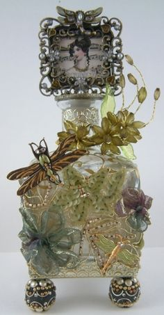 altered bottle art by Ladybumblebee