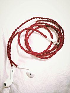 Embroidered Headphones #diy #crafts