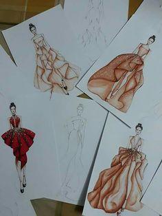 Dress Design Drawing, Dress Design Sketches, Fashion Design Sketchbook, Fashion Design Drawings, Fashion Sketches, Fashion Model Drawing, Fashion Drawing Dresses, Fashion Illustration Dresses, Figure Drawing Models