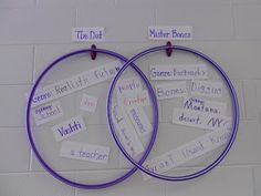 Hula Hoop Venn Diagram - to compare and contrast The Lorax with Uno's Garden Teaching Time, Teaching Reading, Teaching Tools, Teaching Ideas, Teaching Strategies, School Fun, First Day Of School, School Stuff, School Ideas