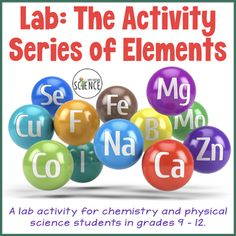 Chemistry Lab: Activity Series Of The Elements Chemistry Lessons, Teaching Chemistry, Chemistry Class, Science Lessons, Science Student, Middle School Science, Physical Science, Fractional Distillation, Life Cycle Assessment