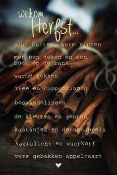 Welkom herfst (welcome autumn) #dutch