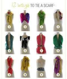 How to tie all those scarfs you have in the closet, but never wear.
