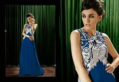 Blue designer #gown