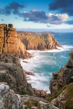 Perennial Flower Gardening - 5 Methods For A Great Backyard Lands End Cliffs In Cornwall, England Cornwall Is The Setting For Poldark On Masterpiece Lands End Cornwall, Places To Travel, Places To Visit, Into The West, English Countryside, Wonderful Places, Beautiful Beaches, Beautiful World, Beautiful Landscapes