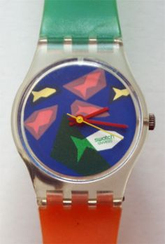 Another one of the Swatch Watches I owned as a teen. I remember thinking this one was totally rad.