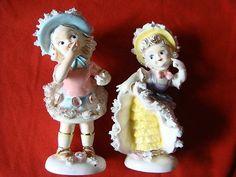 Two Vintage Lipper & Mann Flirty Girl Figurines   #409784469