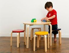 The Hudson Kids Table and Stool Set is a beautifully designed five piece kids furniture set that includes a table and four stools. Your kids will love it! Kids Furniture Sets, Modern Kids Furniture, Affordable Furniture, Nursery Furniture, Furniture Stores, Wooden Furniture, Modern Chairs, Kids Table Chair Set, Wooden Table And Chairs