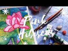 Daily Watercolor #4 Pink Hibiscus - YouTube Original Paintings, Original Art, Pink Art, Painting Process, Painting Tutorials, Hibiscus, Watercolor, Wall Art, Illustration