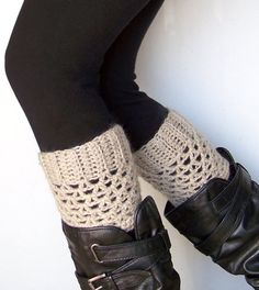 Crochet Boot Socks - @Angie Wimberly Wimberly Wimberly Gnirk make me these for Christmas please! ;)