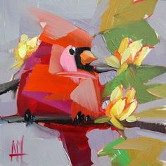 Indiana Cardinal Painting | angela moulton's painting a day