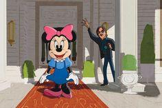 Mario Sorrenti  and Minnie Mouse  -  Barneys & Disney 'Electric Holiday'  Slideshow via WWD.com