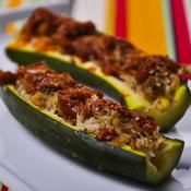 Zucchini Stuffed with Tuna Servings: 4 people Preparation: 15 minutes Cooking time: