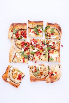 Eggplant and pomegranate pizza.