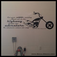 Get Your Motor Running, Head out on the Highway, Steppenwolf Born to Be Wild lyric Vinyl Wall Decal