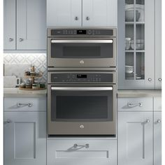 Pantry Pantry has a microwave oven I don't like the appearance of the microwave in ki … – Own Kitchen Pantry Home, Kitchen Decor Inspiration, Kitchen Oven, Kitchen Remodel, Microwave Convection Oven, Kitchen Pantry Cabinets, Convection Wall Oven, Kitchen Renovation, Built In Microwave