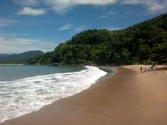 A mistura de praia e montanha