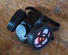 Custom steampunk Gas mask. Goth fetish cosplay by timclark27