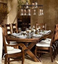A toast to great dining room style! #potterybarn