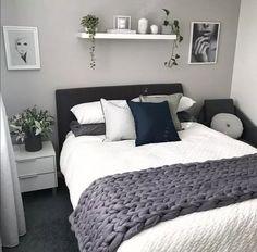 best modern bedroom wall decor ideas to try 00017 Room Ideas Bedroom, Home Decor Bedroom, Modern Bedroom, Bedroom Wall, White Bedroom, Diy Bedroom, Couple Bedroom Decor, Small Minimalist Bedroom, Light Gray Bedroom