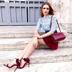 Kayture kristina bazan shoes sandals oscar tiye burgundy lace top #Kayture…