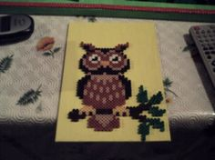 Owl hama perler by activitesmanuelles - skyrock