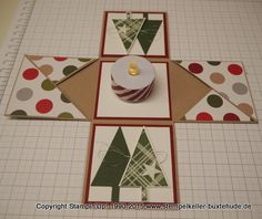 Stampin Up Weihnachten, Envelope Punch Board, Exploding Boxes, 3d Projects, Stamping Up, Xmas, Holiday Decor, Cards, Diy