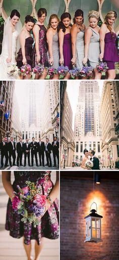 Elegant, Purple & Gray Loft Wedding in Illinois | WeddingWire: The Blog