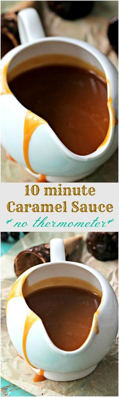 10 Minute Caramel Sauce No Thermometer Needed - Peas and Peonies