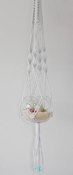 Macrame+Hanger+and+Beach+Terrarium+++Classic+by+studioraw+on+Etsy,+$149.00