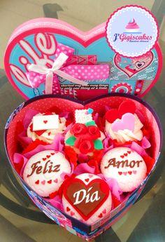 Pack de 6 Cupcakes - Feliz día Amor