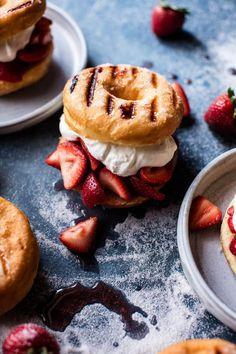 Strawberry Shortcake Grilled Doughnuts