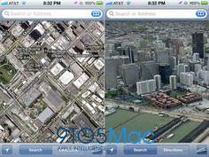 Mockup do que pode ser o New map service no IOS6
