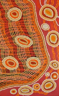 Tanya Nungarrayi Collins ~ Watiya-warnu Jukurrpa (Seed Dreaming) - #aboriginal #art