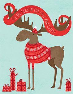 Cheery Moose by Liz Ablashi