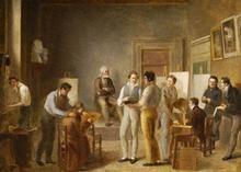 La Classe de Peinture à l'École de Dessin de Lyon 1817 - Jean Marie Jacomin - (French: 1789 ?-1858)