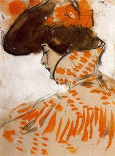 acqua-di-fiori:  Ramon Casas i Carbó (1866-1932) Orange Inspiration