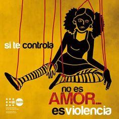 Prevención Violencia de Género en adolescentes a través de carteles con frases e ilustraciones. De el Fondo de Población de las Naciones Unidas en Bolivia.