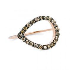 JADA Zea Ring with cognac diamonds