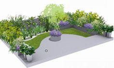 Projekty ogrodów: idylla na tarasie