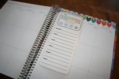 21 Day Fix Tracker Coil Clip In Laminated Dashboard for Erin Condren Life Planner, Limelife and Plum Paper Design