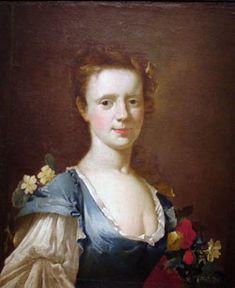 Jeune femme (Lady in blue) (Mujer joven vestida de azul) Autor: James Latham  Fecha: 1740 Objeto: Pintura Estilo: Rococo Medida 58 x 49 Cm