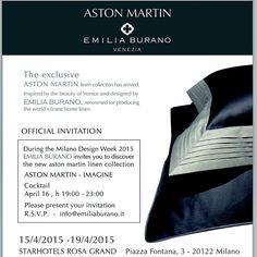 Exclusive Invitation Aston Martin Party Milan Design Week 2015 Www.emiliaburano.it