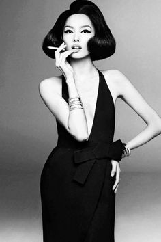 Fei Fei Sun by Steven Meisel for Vogue Italia, January 2013 Love the styling, simply chic