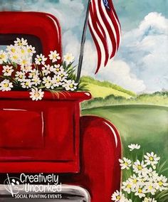 It's a fairwell to summer with our popular All American Summer painting. Don't miss your last chance to paint this beauty that will look great on your walls year round. Easy Canvas Painting, Summer Painting, Simple Acrylic Paintings, Diy Canvas, Diy Painting, Painting & Drawing, Canvas Art, Canvas Paintings, Beginner Painting
