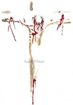 Jesus Print Unframed - Jesus on the Cross - Jesus Painting - Abstract Jesus - Inspirational Art - Crown of Thorns - Jesus Watercolor Print - Religious Art Abstract Painting of Jesus on by KWhiteselCreations - Catholic Art, Religious Art, Croix Christ, Jesus Sacrifice, Jesus Painting, Cross Art, Prophetic Art, Jesus Art, Biblical Art