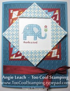 Patterned Occasions Folded Frame 1 by Angie Leach - Cards and Paper Crafts at Splitcoaststampers