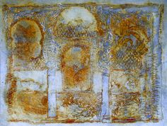 """""""The Ghost of the Alhambra,"""" a liquid-metal ghost print of one of Maureen's Alhambra-theme plates."""