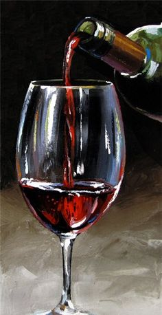 "Victor Bauer ""Pouring Wine 12 x 26 Oil on canvas Broken Glass Art, Sea Glass Art, Fused Glass, Stained Glass, Oil On Canvas, Canvas Art, Afrique Art, Wine Painting, Painting Logo"