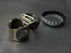 Superman bottle opener ring via nique geek